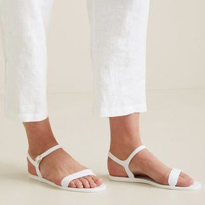 Seed Heritage White Jelly Sandals Flats Shoes 39
